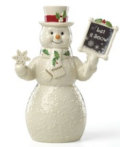 """Lenox Holiday Let It Snow 7"""" Snowman Collectible Figurine Created for 20... - $44.99"""