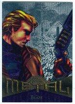 Fleer Marvel Metal #57 BLAZE Silver Parallel Chase Card - $2.93