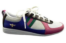 Creative Recreation Womens White Blue Fuchsia Black Galow Gym Shoes Sneakers 6US