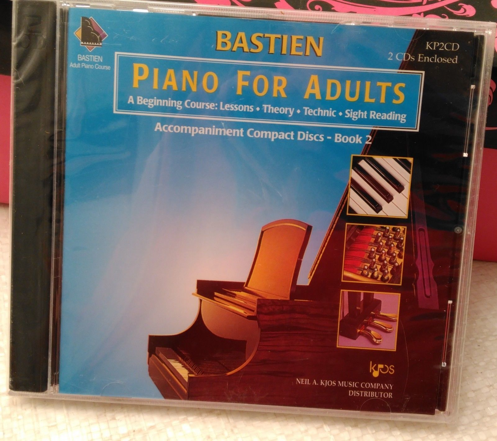 Bastien Piano For Adults, Book 2 (CD Only) 2 CD set
