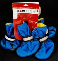 Paw Tech Fleece Lined Dog Boot Small Blue Nylon Breathable Water Resistant - $14.84