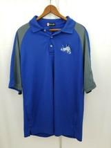 Hartwell Detroit Lions Golf Polo, Blue Gray, Medium M, Lions Logo, Golf ... - $13.21