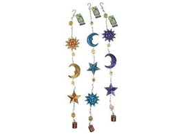 1 x 70cm Hanging Sun, Star & Moon Garden Decoration, Colour Selected Ran... - $9.89