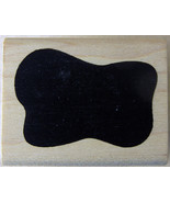 """A STAMP IN THE HAND Rubber Stamp AMOEBA-LIKE SHAPE 1.5 x 1"""" 1998 - $2.59"""
