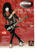 Kiss teen magazine pinup clipping Signature Series Paul Stanley Rockline