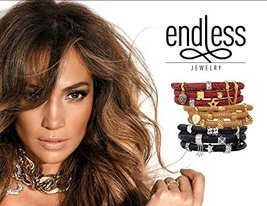 Endless Jewelry 4010 Crme Metallic Leather Necklace image 3