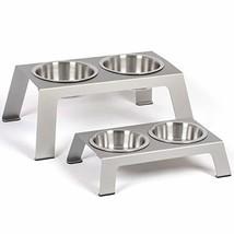 PetFusion Elevated Dog Bowls, Cat Bowls -- Premium Anodized Aluminum Fee... - $24.09