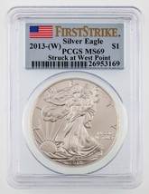 2013-(W) $1 American Silver Eagle Graded by PCGS as MS69 1st Strike - $34.65