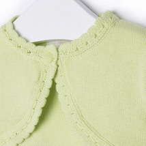 Mayoral Baby Girl 0M-12M Scallop Contour Knit Cardigan Sweater image 3
