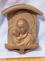 Vintage Mother & Child Religious Plastic Wall Hanging 1950's mv - $13.85