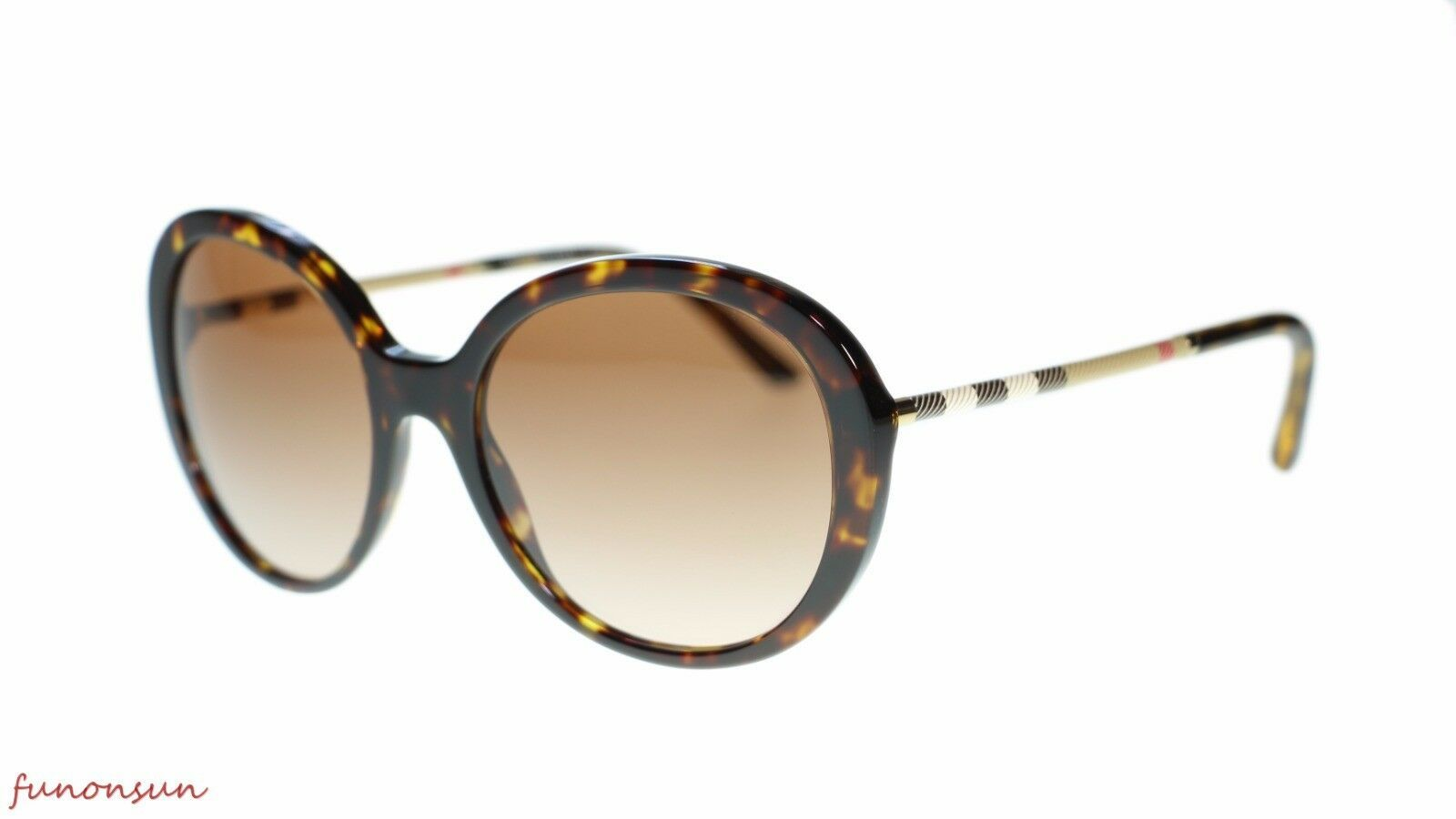 Burberry Women Sunglasses BE4239Q 300213 Havana Brown Gradient Lens 57mm - $163.93