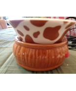 Pink Zebra Simmer Pot (new) Brown Base  /Animal Print Dishes - $32.66