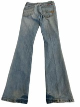 FOX RACING JEANS WOMENS  Light blue SKINNY DISTRESSED SIZE 1   26/31 - $19.79