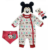 Disney Mickey Mouse Holiday Gift Set for Baby (3-6 Months OR 9-12 Months) 4pcs - $29.99