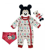 Disney Mickey Mouse Holiday Gift Set for Baby (3-6 Months OR 9-12 Months... - $29.69