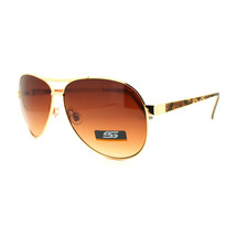 Women's Fashion Aviator Sunglasses with Snake Skin Reptile Pattern Temples - $9.95