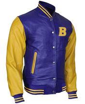 Teen Wolf Varsity Scott Howard Letterman Michael Fox Bomber Leather Jacket image 2