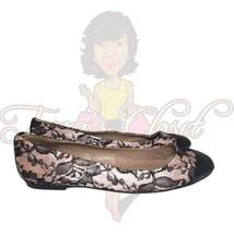 Ann Taylor Factory Women's Lace Pink Slip-On Round Toe Dress Flats Sz 8M - $24.88
