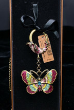 Jay Strongwater * BUTTERFLY KEYRING / KEY RING * Enameled, Colorful, NEW... - $119.99