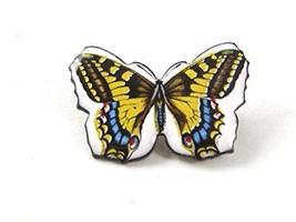 Beautiful Vintage Enameled Copper Butterfly Brooch 6917 - $14.84