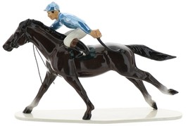 Hagen-Renaker Specialties Large Ceramic Figurine Race Horse with Jockey image 6