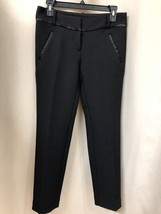Ann Taylor LOFT 0 Black Marisa Skinny Ankle Dress Pants - $28.71