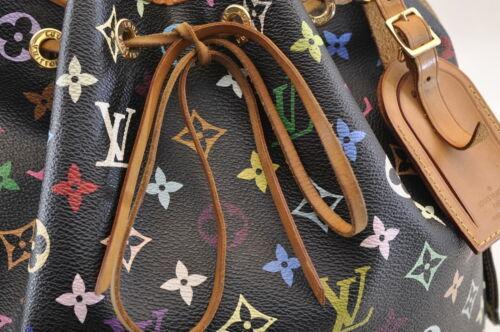 LOUIS VUITTON Monogram Multicolor Petit Noe Shoulder Bag M42230 LV Auth 7634