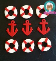 nautical fondant  cupcake topper - $35.00