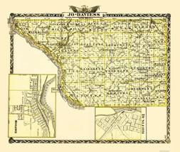 Jo Daviess Illinois Landowner - Warner 1870 - 23 x 27.18 - $36.95+