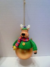 Vintage Avon 1997 REINDEER Gift Collection Santa and Company Ornament  With Box - $4.00
