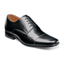 Florsheim Mens Shoes Postino Cap Toe Oxford Black Smooth Leather 15149-005  - $115.00