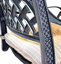 Nassau bar stools Set of 8 swivel outdoor patio furniture cast aluminum. image 4