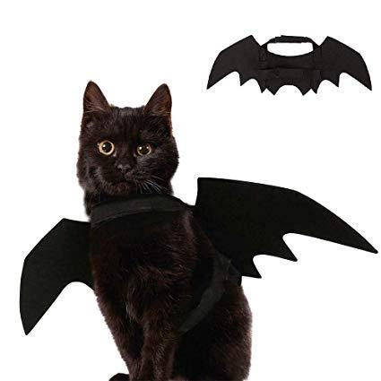 Ausein Halloween Pet Bat Wings Costume for Cat Dog, Cat Kitty Bat Wings Costume