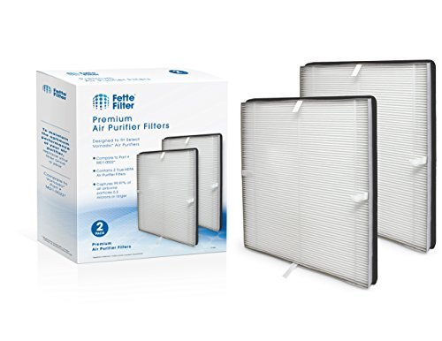 Fette Filter - 2 Premium True Hepa Air Purifier Filters Compatible with Vornado