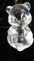 Fenton Art Glass Crystal Clear Bear Figurine Made in USA - $25.00