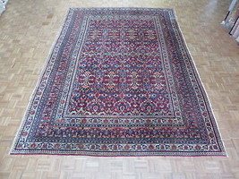 9'6 X 13'9 Hand Knotted Red Persian Fine Antique Kouras Oriental Rug G1438 - $7,989.06
