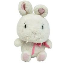 "12 "" GANZ Amuse-Gueules Blanc Bunny Rabbit Rose Oreilles & Nœud Animal en - $55.31"