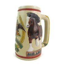 Vintage Anheuser Busch Bud Light Clydesdale Horse Beer Stein Ceramarte - $14.69
