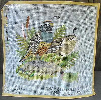 Primary image for Quail Handpainted Needlework Canvas Toni Totes VT
