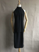 100% AUTHENTIC LOEWE LONG BLACK SLEEVELESS EVENING DRESS