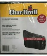Char-Broil - 6084960 - 72 In. Heavy-Duty Smoker Cover - Black - $39.55