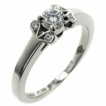 Cartier Ring Ballerina Solitaire 0.21ct Platinum PT950 Diamond US4.5-5 U... - $1,580.58