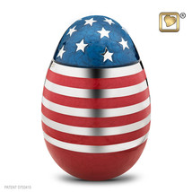 Stars & Stripes American Flag Adult Funeral Cremation Urn, 195 Cubic Inches - $193.50