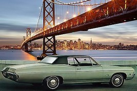 1968 Impala Custom green | 24 x 36 INCH POSTER | sports car - $18.99