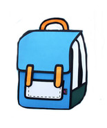 Backpacks 3D anime bag  Outdoor 2D Drawing Schoolbags - $29.99