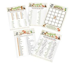 "Lillian Rose Woodland Baby Shower Game Cards, Neutral, 5"" x 7"" - $17.44"