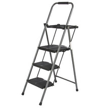 BCP 3 Step Ladder Lightweight Folding Stool 330 LBS Cap Space Saving w/Tray - $67.90