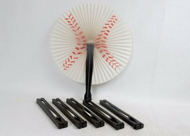 Baseball Accordion Paper Fans, Lot of 6, Folds To Fit Pocket or Purse, #... - $6.81