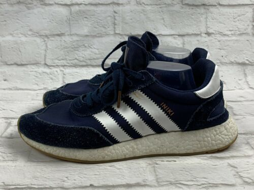 Adidas Iniki Runner Shoes Navy Blue Sneakers Mens Size 11