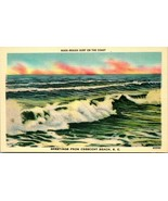 Vtg Linen Postcard South Carolina Crescent Beach Rough Surf on the Coast... - $7.95